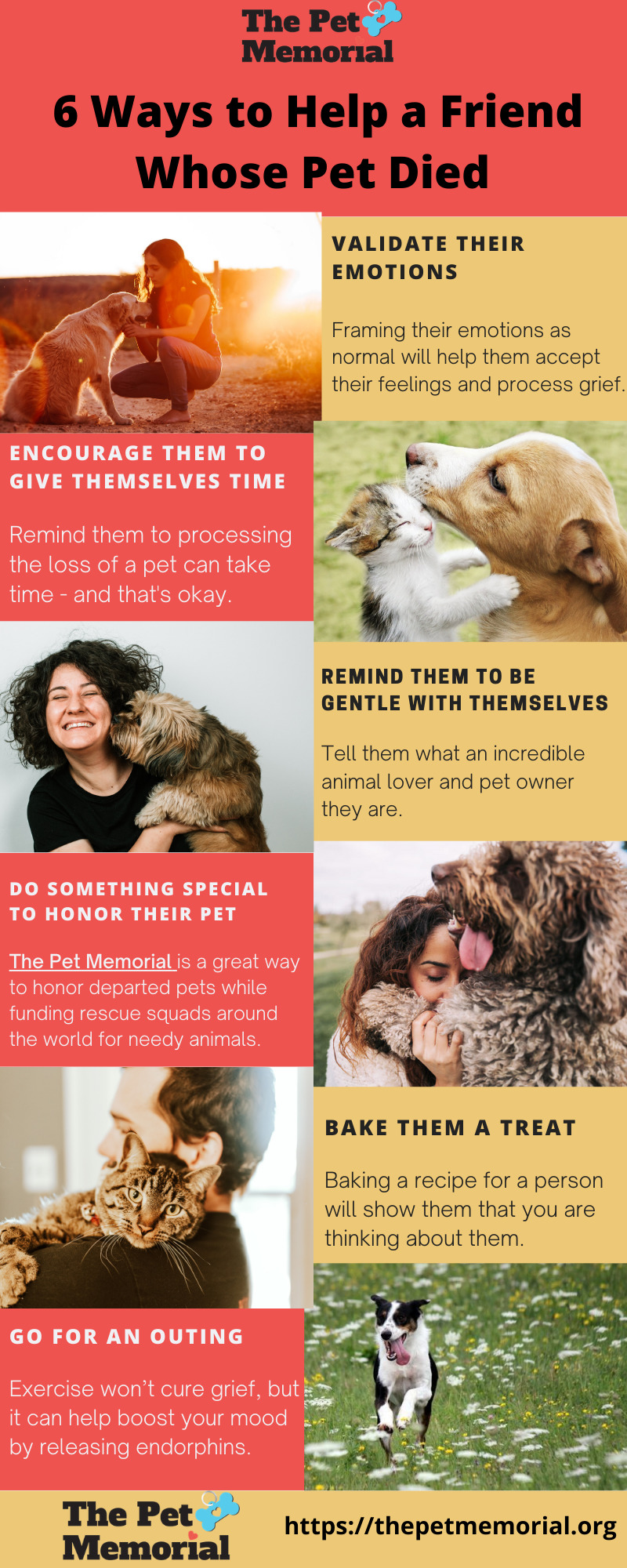 6 Ways to Help a Friend Whose Pet Died 3