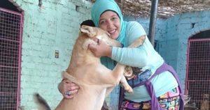 Animal rescuer, Hoda Mklad in Egypt
