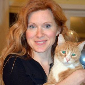 Laura Simpson and her cat